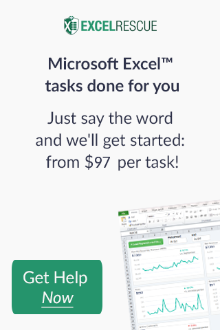 Ad for Excel Rescue