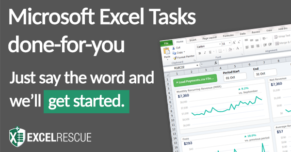 Excel Rescue Banner